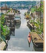 Seattle Houseboats Wood Print