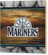 Seattle Mariners Wood Print by Joe Hamilton