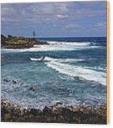 Secluded Cove Kauai Wood Print