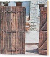 Secret Courtyard Wood Print