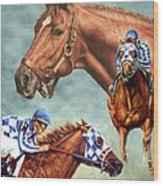 Secretariat - The Legend Wood Print by Thomas Allen Pauly