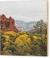 Sedona Panorama Wood Print