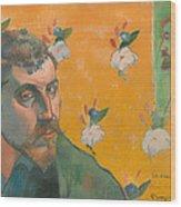 Self Portrait With Portrait Of Bernard Wood Print