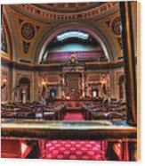 Senate Chamber Wood Print