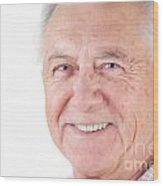 Senior Citizen Man Wood Print