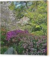 Serene Garden Wood Print