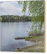 Serene Lake View Wood Print