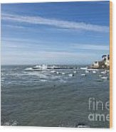Sestri Levante With The Sea Wood Print