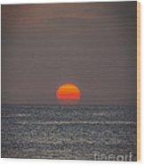 Setting Sun Wood Print