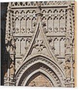 Seville Cathedral Ornamentation Wood Print