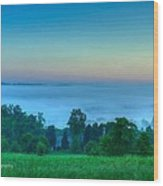 Shaconage Land Of The Blue Smoke Wood Print by Paul Herrmann