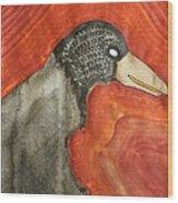 Shaman Original Painting Wood Print by Sol Luckman