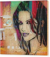 Shania Twain Collection Wood Print