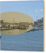 Shaw's Wharf At Sakonnet Point In Little Compton Rhode Island Wood Print