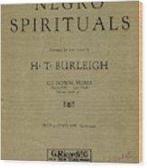 Sheet Music Spiritual Wood Print