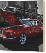 Shelby Gt 500 Mustang Wood Print