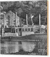Shem Creek In Black And White Wood Print