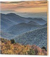 Shenandoah National Park Sunset Wood Print