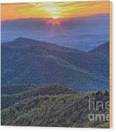 Shenandoah Sunset Wood Print