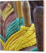 Ship Rigging Wood Print by Carlos Caetano