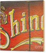 Shoe Shine Kit Wood Print