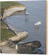 Shoreline Fishing Squares, île Madame Wood Print