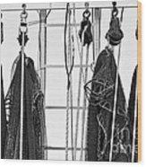 Shrimp Nets Wood Print