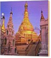 Shwedagon Paya - Yangoon Wood Print
