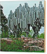 Sibelius Memorial Park In Helsinki-finland Wood Print