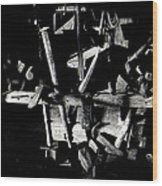 Sid Wilson's Tools For Building Stagecoaches Pick 'em Up Ranch Tombstone Arizona 1979 Wood Print