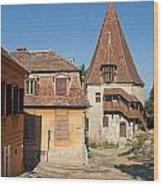 Sighisoara Transylvania Medieval Historic Town In Romania Europe Wood Print