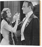 Silent Film Still: Drinking Wood Print