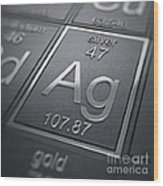 Silver Chemical Element Wood Print