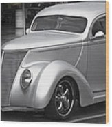 Silver Ford Wood Print