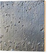 Silver Paint Texture Wood Print