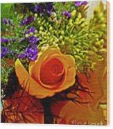 Simply Rose Wood Print