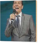 Singer Michael Feinstein Performing With The Pasadena Pops. Wood Print