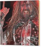 Singer Rob Zombie Wood Print