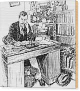 Sir Arthur Conan Doyle (1859-1930) Wood Print