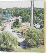 Six Flags America - 12121 Wood Print