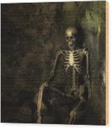 Skeleton Wood Print