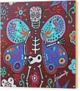 Skellyfly Day Of The Dead Wood Print