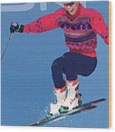 Ski 3 Wood Print