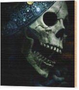 Skull In Crown Wood Print