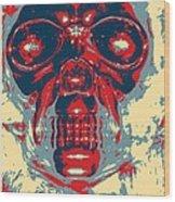 Skull In Hope Wood Print