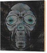 Skull In Negative Wood Print