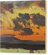Sky At Sunset Jamaica West Indies Wood Print