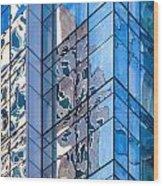 Sky Blue Glass Wood Print