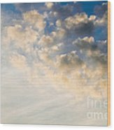 Sky With Clouds Wood Print