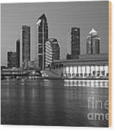 Skyline Of Tampa Along Waterfront Wood Print